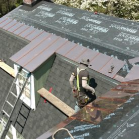 Shingle Roofing With Copper
